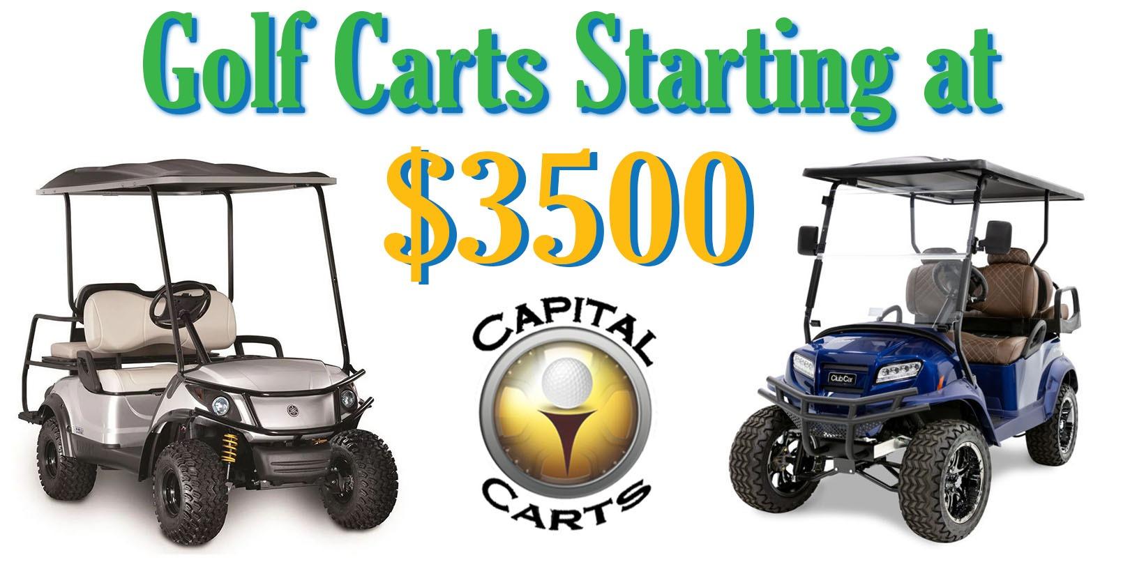 Home Banner - Carts starting at $3500