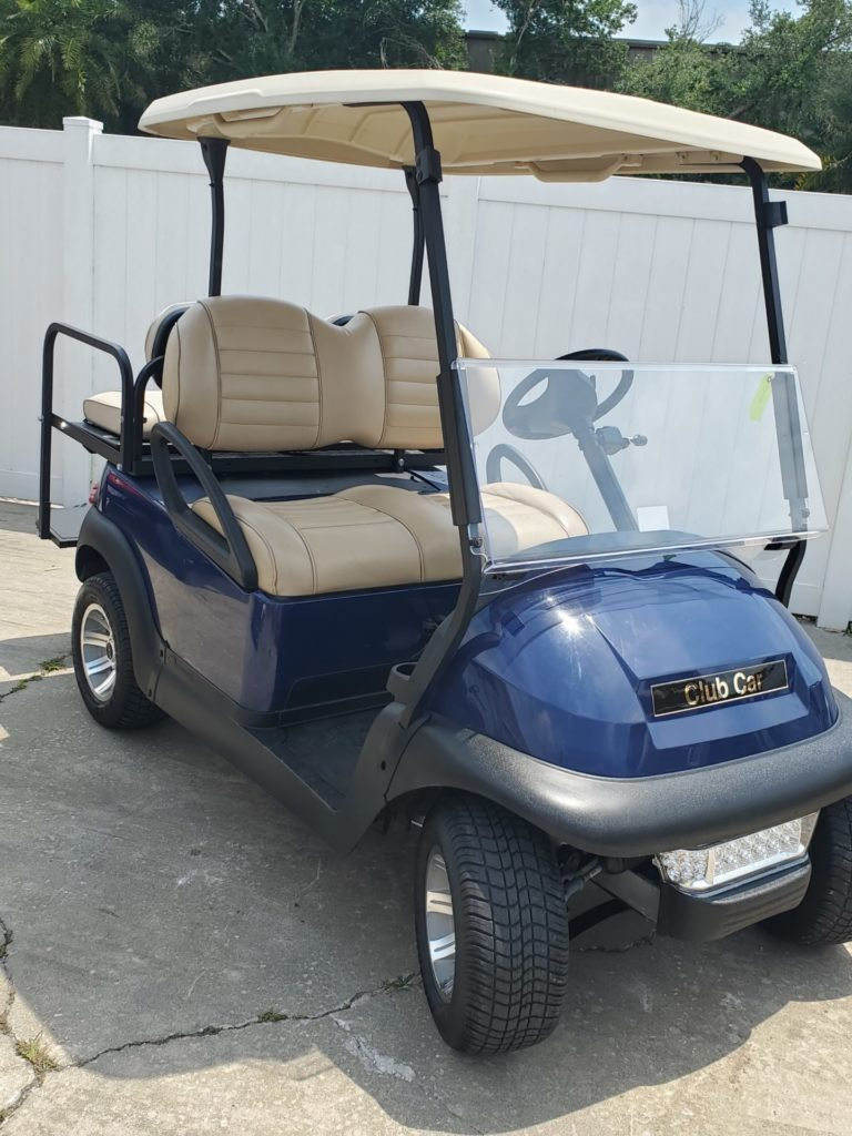 Club Car Precedent Blue Light Seats